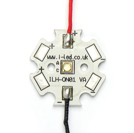 ILS ILH-ON01-TRGR-SC201-WIR200, OSLON1 PowerStar Circular LED Array, 1 Green LED