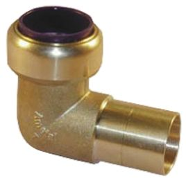90° Brass Push Fit Fitting 15mm product photo