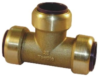 Brass Push Fit Fitting 15mm product photo