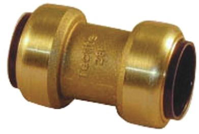 Straight Brass Push Fit Fitting 22mm product photo