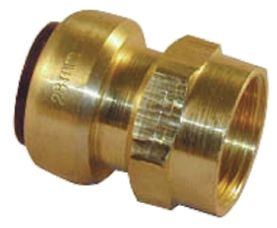 Straight Brass Push Fit Fitting 15mm x 1/2 in G Female product photo