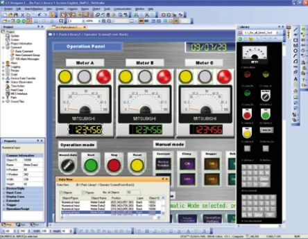 Mitsubishi PLC Programming Software GT Works3 V01-2L0C-E for use with GOT  Series HMI's for Windows