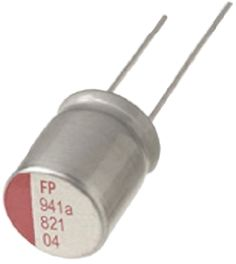 Nichicon Aluminium Polymer Capacitor 330μF 6.3V dc 10mm Through Hole NS Series +105°C