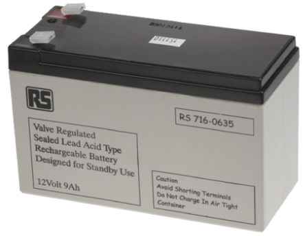 Y9-12 Rechargeable Lead Acid Battery - 12V, 8 5Ah
