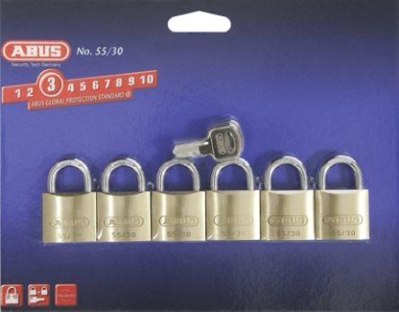 24842 >> 24842 Abus Abus 29mm Brass Steel Key Weather Resistant Padlock