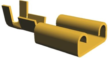 TE Connectivity FASTIN-FASTON .250 Series Crimp Receptacle, 6.35 x 0.81mm, 0.3mm² to 0.8mm², 22AWG to 18AWG