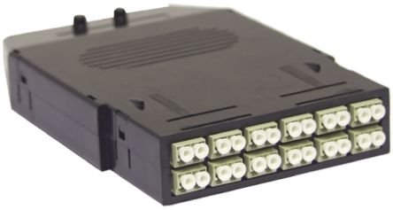 RapidNetSeries, 12 Port LC to LC Multimode Duplex Cassette, OM3 Optical Fibre Type product photo