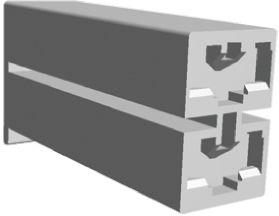 TE Connectivity Positive Lock .187 Mk II Series, 2 Way Nylon Crimp Terminal Housing, 6.35mm Tab Size, Natural