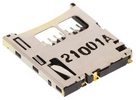 Molex, 502579 8 Way Right Angle Push/Push Micro SD Memory Card Connector With Solder Termination