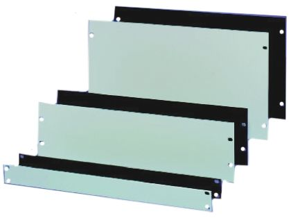 19-inch Front Panel, 10U, Grey, Aluminium product photo