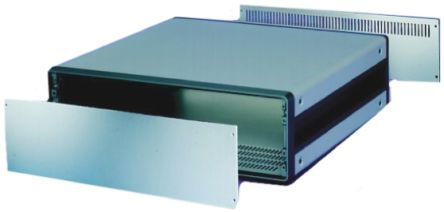 19-inch Rear Panel, 3U, 42hp, Ventilated, Grey, Aluminium product photo
