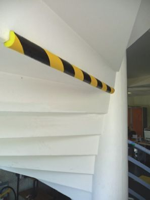 RS PRO Black/Yellow Rubber 750mm Corner & Edging Tape