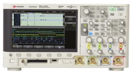 InfiniiVision 3000A X-Series MSO; 4 Analog Plus 16 Digital Ch; 200MHz; MSOX3024A