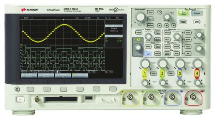 Keysight Technologies, MSOX2024A Mixed Signal Oscilloscope, 4 Analogue. Ch., 8 Digital. Ch., 200MHz