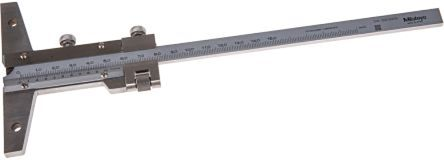 Mitutoyo 527-101 Stainless Steel Vernier Depth Gauge, 150mm, With RS Calibration