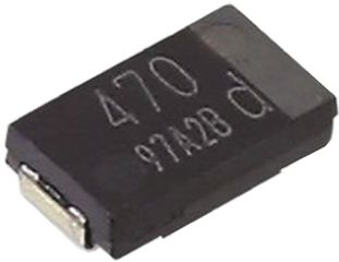 Panasonic 100μF 2.5V dc Aluminium Polymer Capacitor, Surface Mount 6 x 3.2 x 1.9mm +105°C 1.3mm 6mm