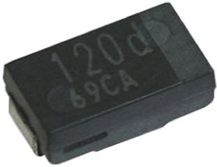 Panasonic 470μF 2V dc Aluminium Polymer Capacitor, Surface Mount 7.3 x 4.3 x 1.9mm +105°C 1.3mm 7.3mm