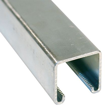 41 x 41mm Single Galvanised Steel Strut, 3m Long