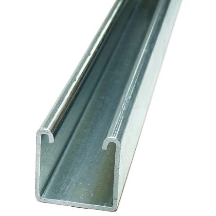 Galvanised Steel/Stainless Steel 3m Channel Splice Support 1.91kg/m, Fits Channel Size 21 x 41mm product photo