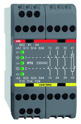 RT6 Safety Relay, Single or Dual Channel, 230 V ac, 4 Safety
