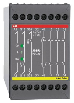 ABB JSBR4 115 V ac Safety Relay with Dual Channel,, 4