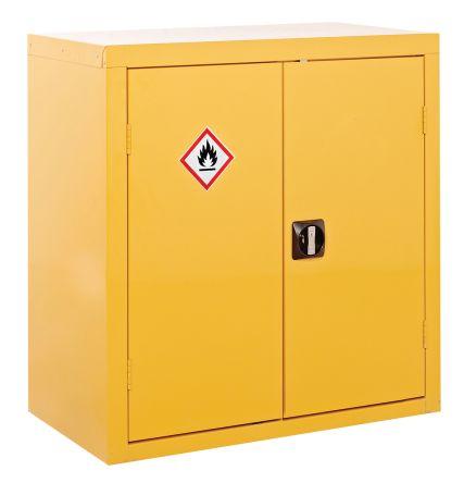 Yellow Lockable 2 Doors Hazardous Substance Cabinet, 900mm x 900mm x 460mm product photo