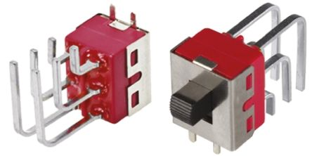 PCB Slide Switch Double Pole Double Throw (DPDT) Latching 5 A @ 28 V dc Slide product photo