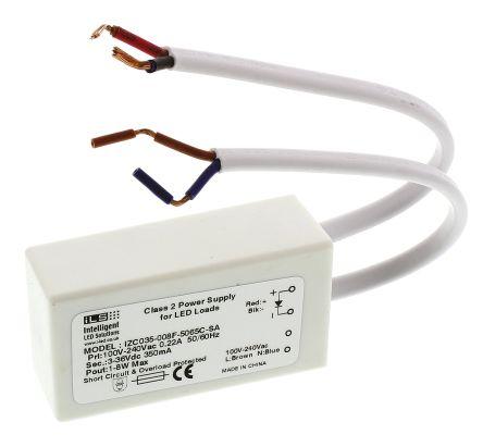 ILS IZC035-008F-5065C-SA, Constant Current LED Driver 8W 3 → 36V 350mA