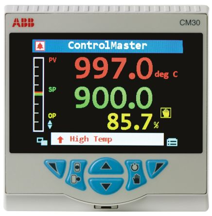 ABB CM30 PID Temperature Controller, 97 x 97mm, 1 Output Analogue, 100 → 240 V ac Supply Voltage ON/OFF