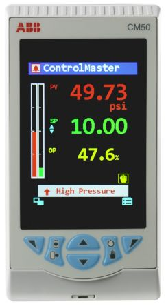 ABB CM50 PID Temperature Controller, 144 x 76mm, 5 Output Analogue, Digital, Relay, 100 → 240 V ac Supply Voltage