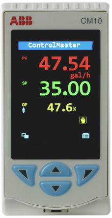 ABB CM10 PID Temperature Controller, 97 x 50mm, 2 Output Analogue, Relay, 100 → 240 V ac Supply Voltage ON/OFF