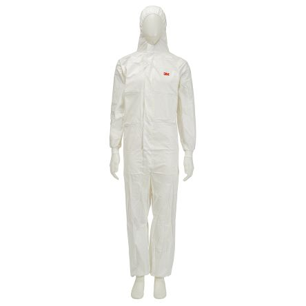 LARGE DISPOSABLE POLYPROPYLENE COVERALLS WITH HOOD 25 PIECES
