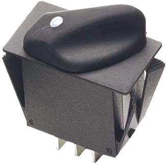 3 Position DPDT Rotary Switch, 20 A @ 28 V dc, Tab product photo