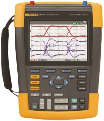 Fluke 190 II Series 190 ScopeMeter Digital Oscilloscope, Handheld, 2 Channels, 60MHz