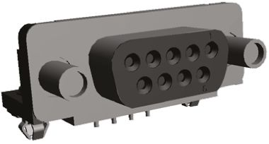 TE Connectivity Amplimite HD-20 Series, 9 Way Right Angle Through Hole PCB D-sub Connector Socket, with 4-40 UNC Female