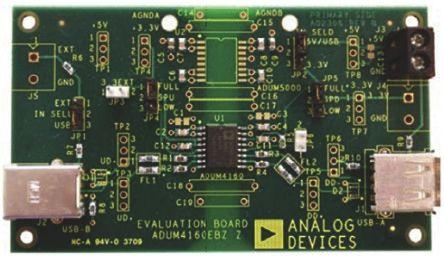 Analog Devices, iCoupler USB Digital Isolator Evaluation Board for ADuM3160, ADuM4160, EVAL-ADUM4160EBZ