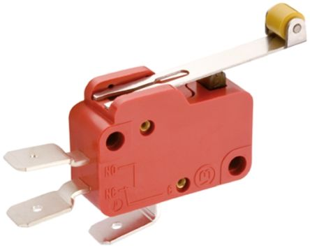 SPDT Lever Microswitch, 10 A @ 400 V ac product photo