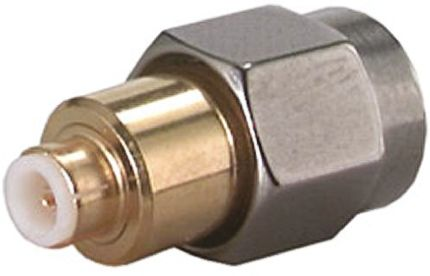 Straight 50Ω RF Adapter MMBX Plug to SMA Plug 6GHz