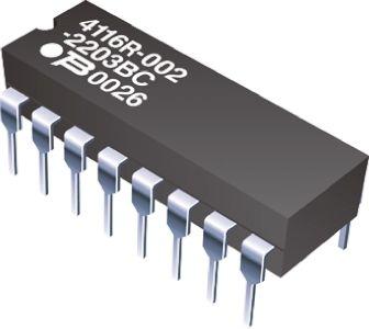 4116R DIL Resistor Array Network 100R 2 Pack