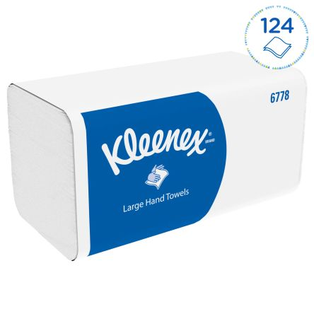 Kimberly Clark Kleenex Folded White 315 x 215mm Paper Towel 2 ply, 1860 Sheets