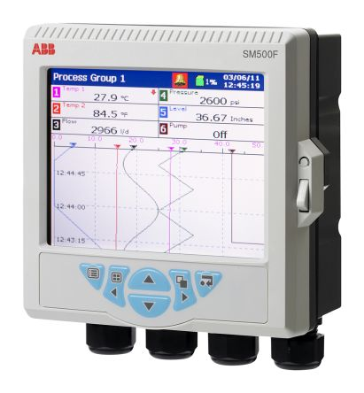 ABB SM50DFC/B000010E/STD, 6 Channel, Graphic Recorder Measures Current, Resistance, Temperature, Voltage