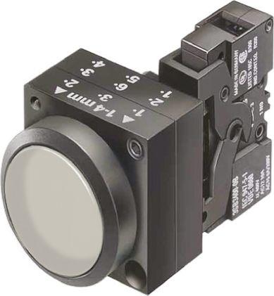 Siemens, 3SB3 Illuminated Clear Flat Push Button, NO, 22mm Momentary Screw