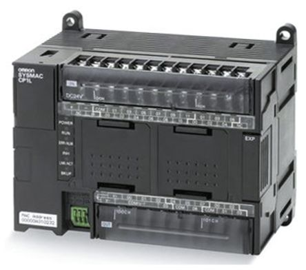 Omron CP1L PLC CPU, Ethernet Networking Computer Interface, 10000 Steps Program Capacity, 36 (DC) Inputs