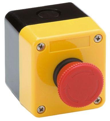 Omron, Red, Twist to Reset 40mm Mushroom Head Emergency Button