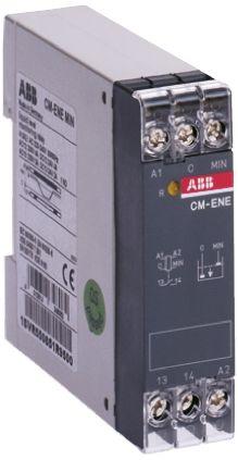 ABB Liquid Level Relay DIN Rail Mount, Screw Mount, Snap-On, 110 → 130 V ac Input