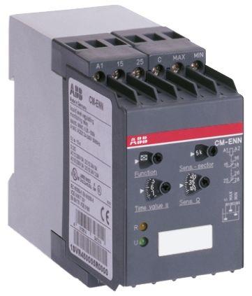 ABB Liquid Level Relay DIN Rail Mount, Screw Mount, Snap-On, 220 → 240 V ac Input