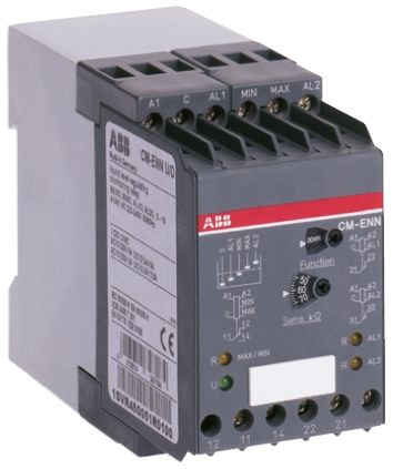 ABB Liquid Level Relay DIN Rail Mount, Screw Mount, Snap-On, 220 → 240 V ac Input