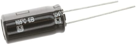 Panasonic Aluminium Electrolytic Capacitor 47μF 50V dc 6.3mm Through Hole EB(A) Series +105°C