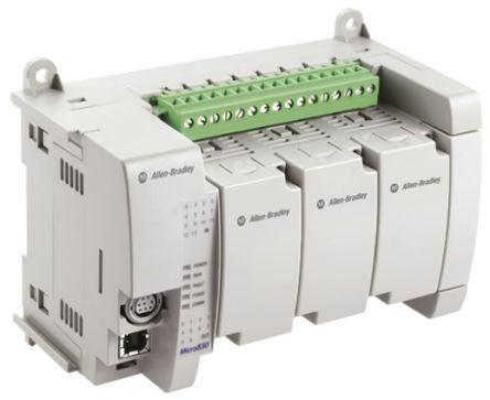 Allen Bradley Micro830 PLC CPU Starter Kit, ModBus Networking Operating  Panel Interface, 10 kB Program Capacity, 14
