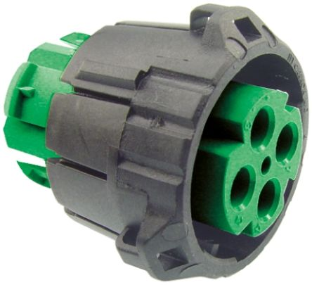 ITT Cannon APD Series, 4 Pole Din Plug Plug, DIN 72585, 48 V dc IP67, IP69K
